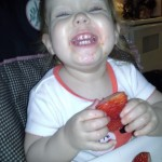 Loves strawberries!